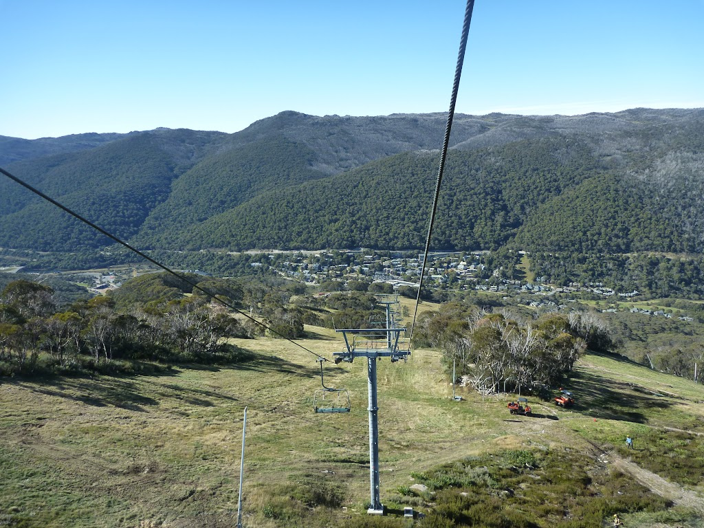 Looking down to Thredbo from the chairlift