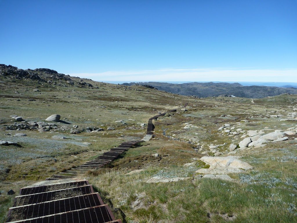 Looking down the steps towards Thredbo