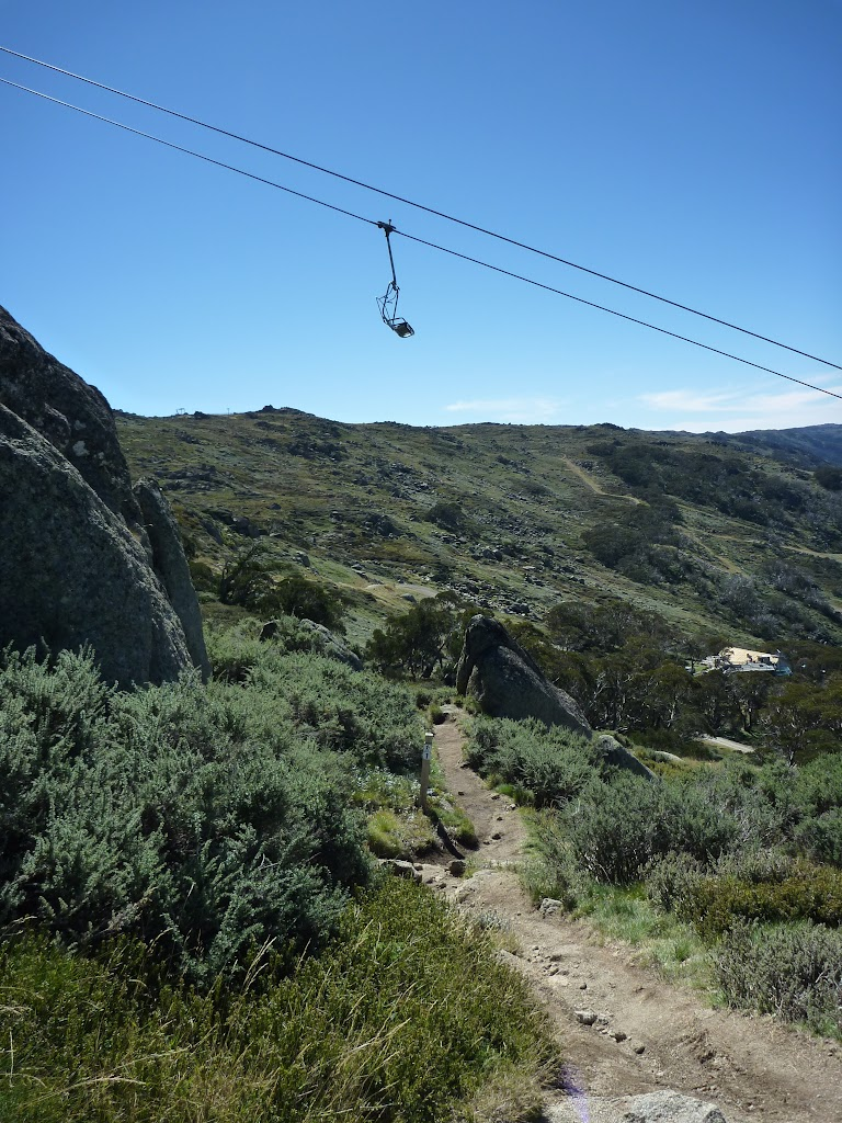Merrits Nature Track passing under the chair lift