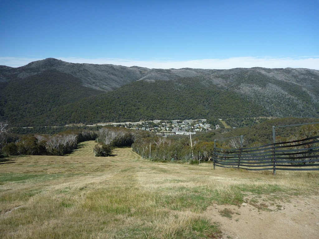 Looking down to Thredbo Village from just below Frostbite cafe