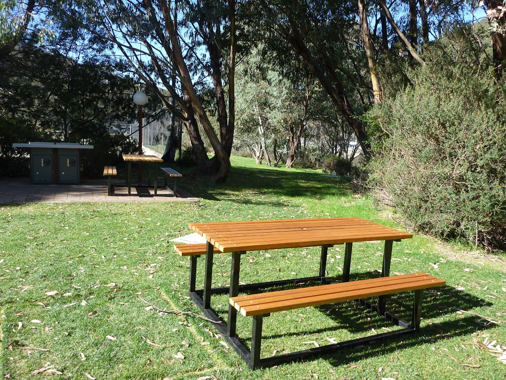 Picnic area near the tennis courts