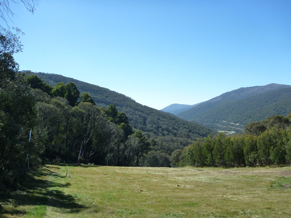 Looking down the Thredbo Valley from near the Snowgums midstation