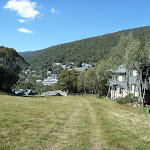 Walking down the Tru Blue ski run into Thredbo Village (276923)