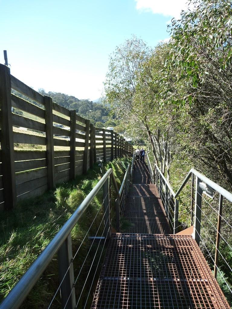 Walking down the Village trail footpath