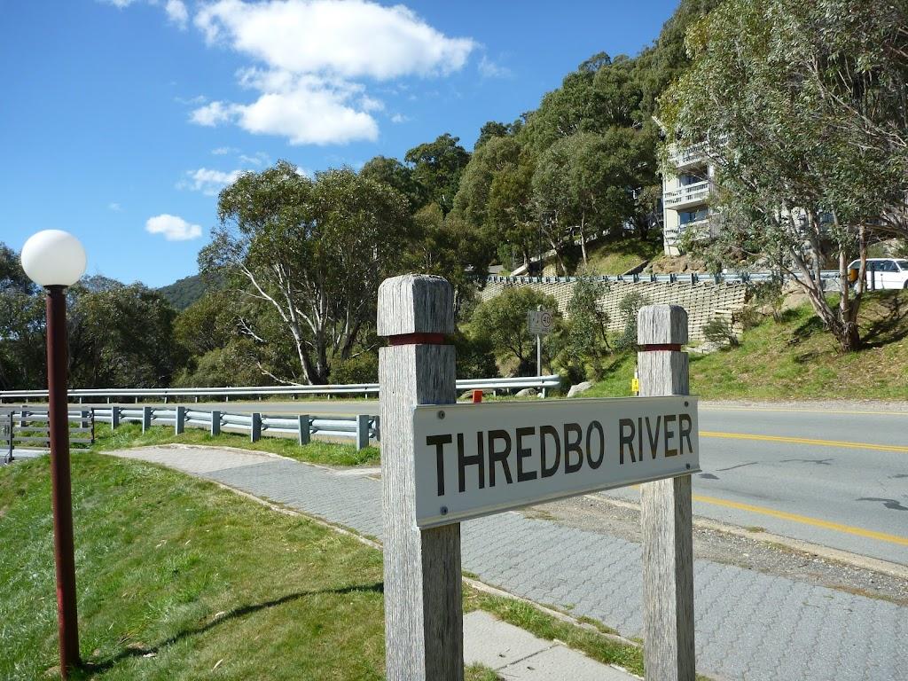 Thredbo River sign