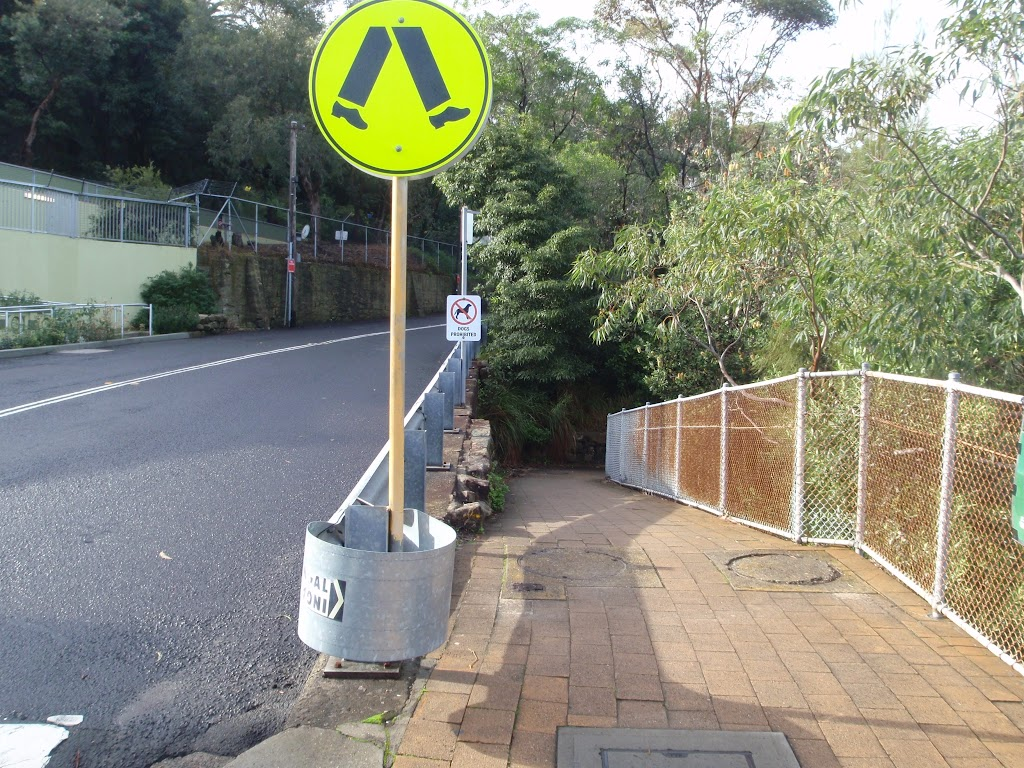 Track intersection infront of the lower Taronga Zoo Entrance