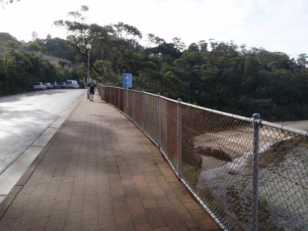 Walking below Taronga Zoo