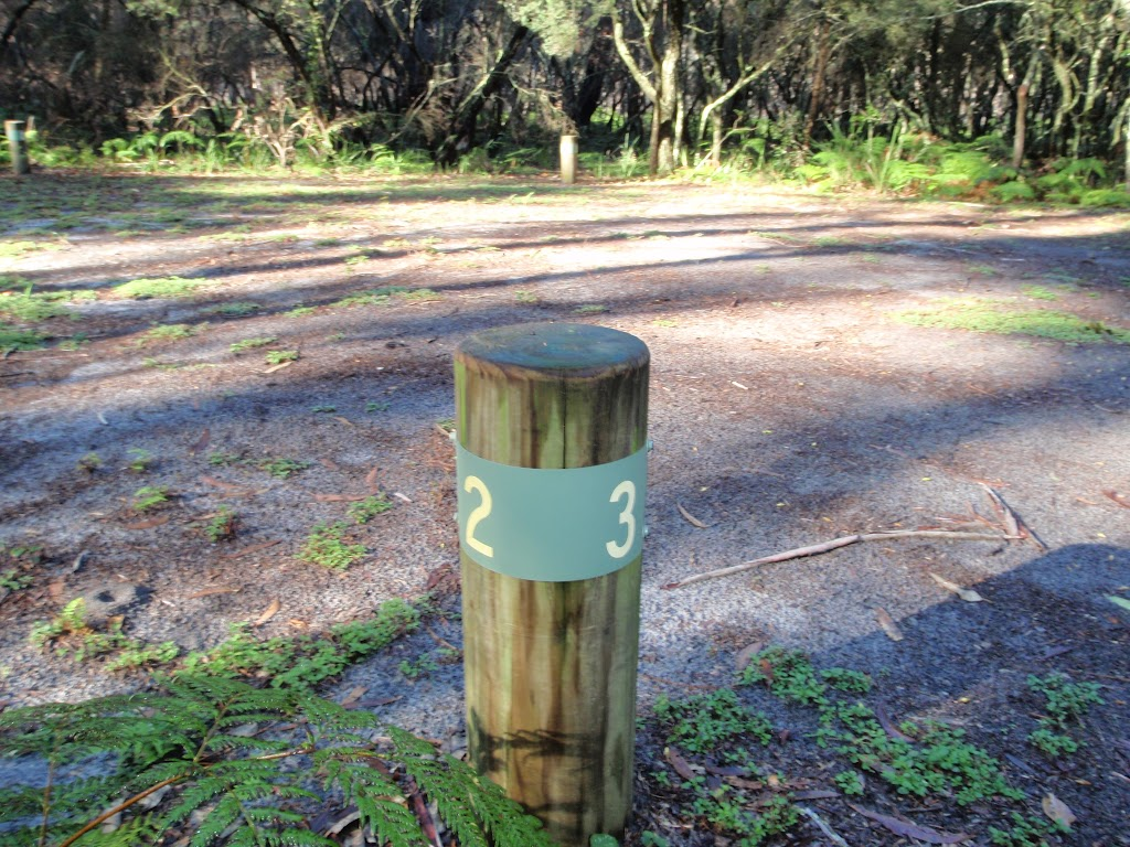 Numbered campsites