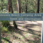 Sign pointing to camping area
