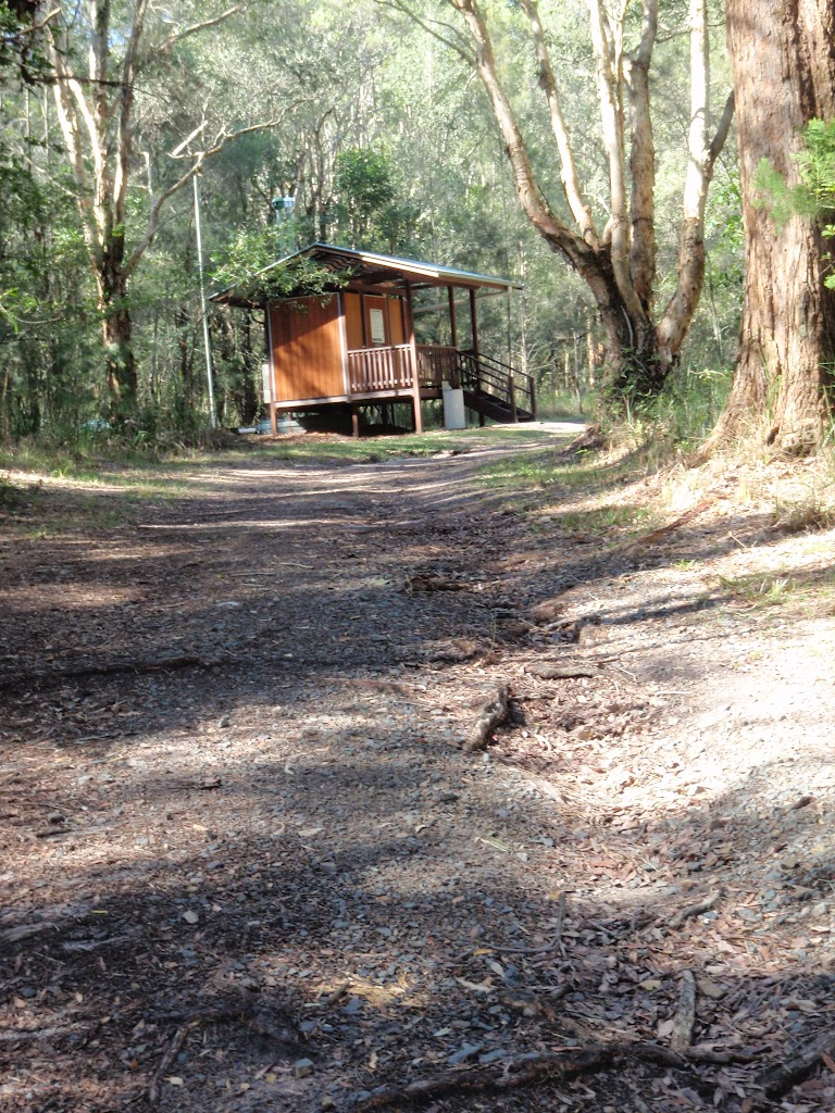 Toilet block and management trail at Johnson's Beach