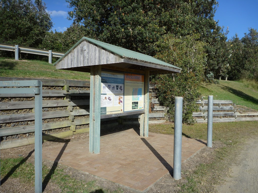 Information sign at the entrace to Melaleuca camping ground