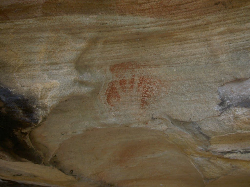 Red hand at Red Hands Cave (28022)