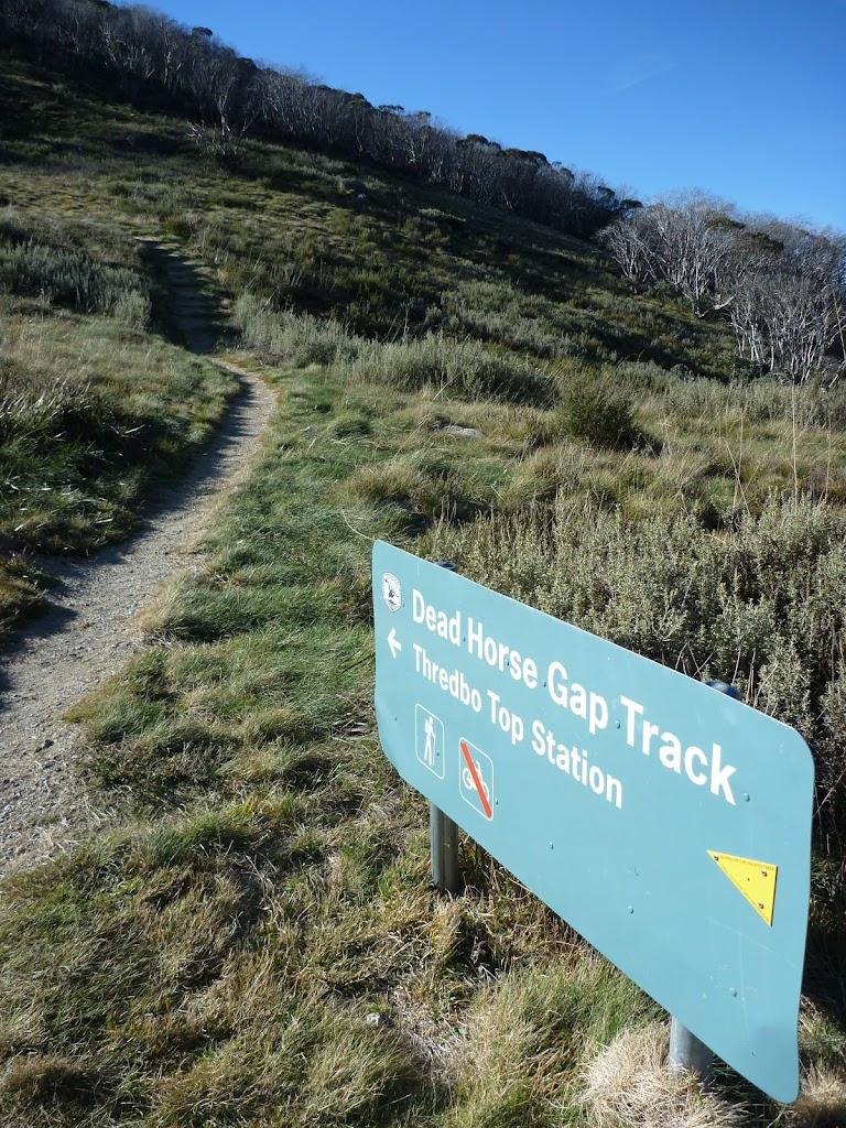 Dead Horse Gap track sign