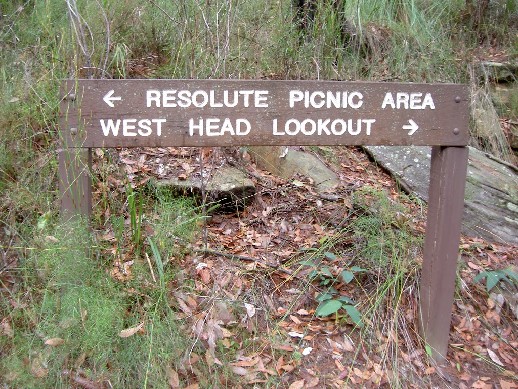 Resolute, West Head sign