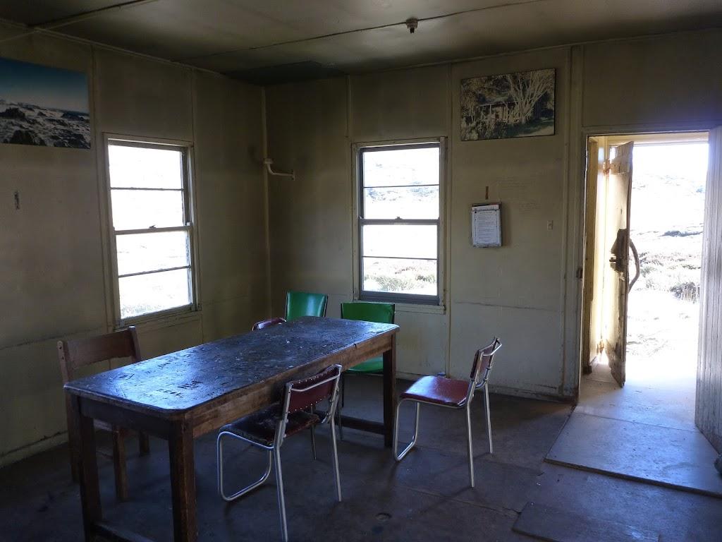Inside Schlink Hut