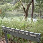 Sign near water on Jerusalem Bay Track (28703)
