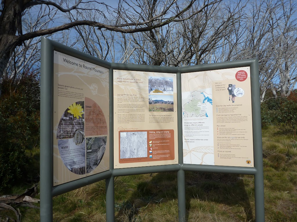 Information sign at Round Mountain Trail Head
