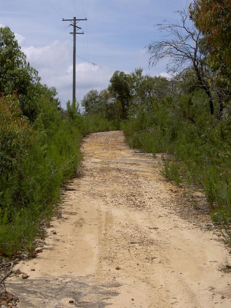 Trail along ridge top