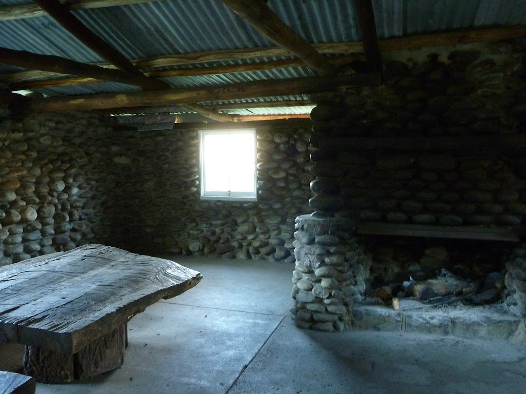 Inside Keebles Hut