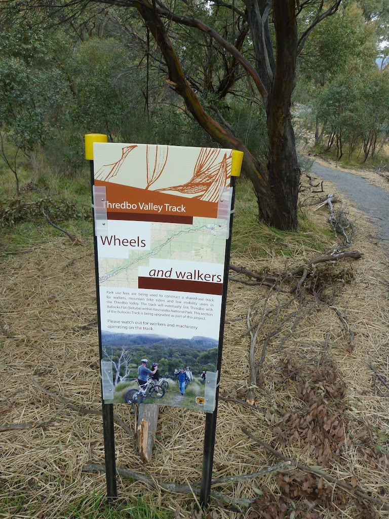 Information sign on the Thredbo Valley Track