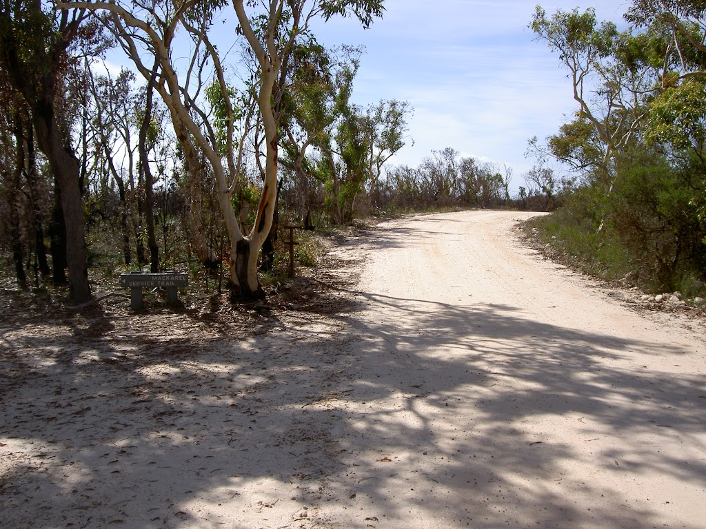 The service trail to the Basin