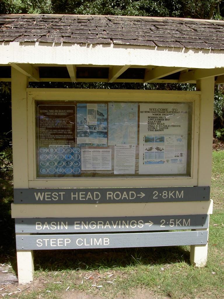 Information sign at the Basin