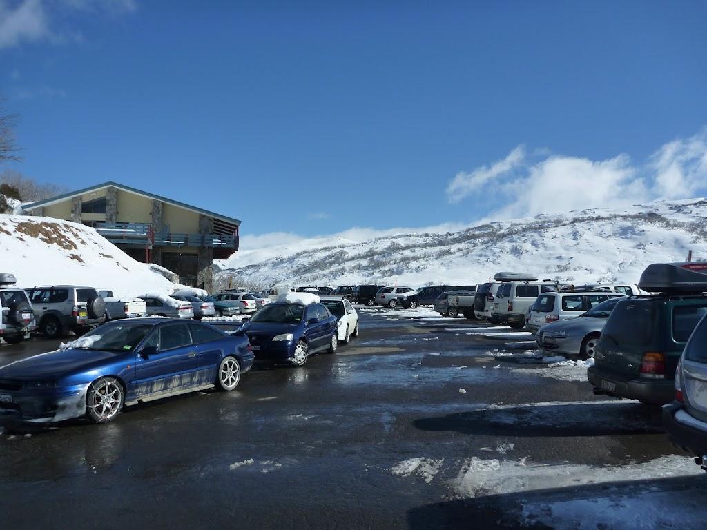 Car park at Guthega in winter