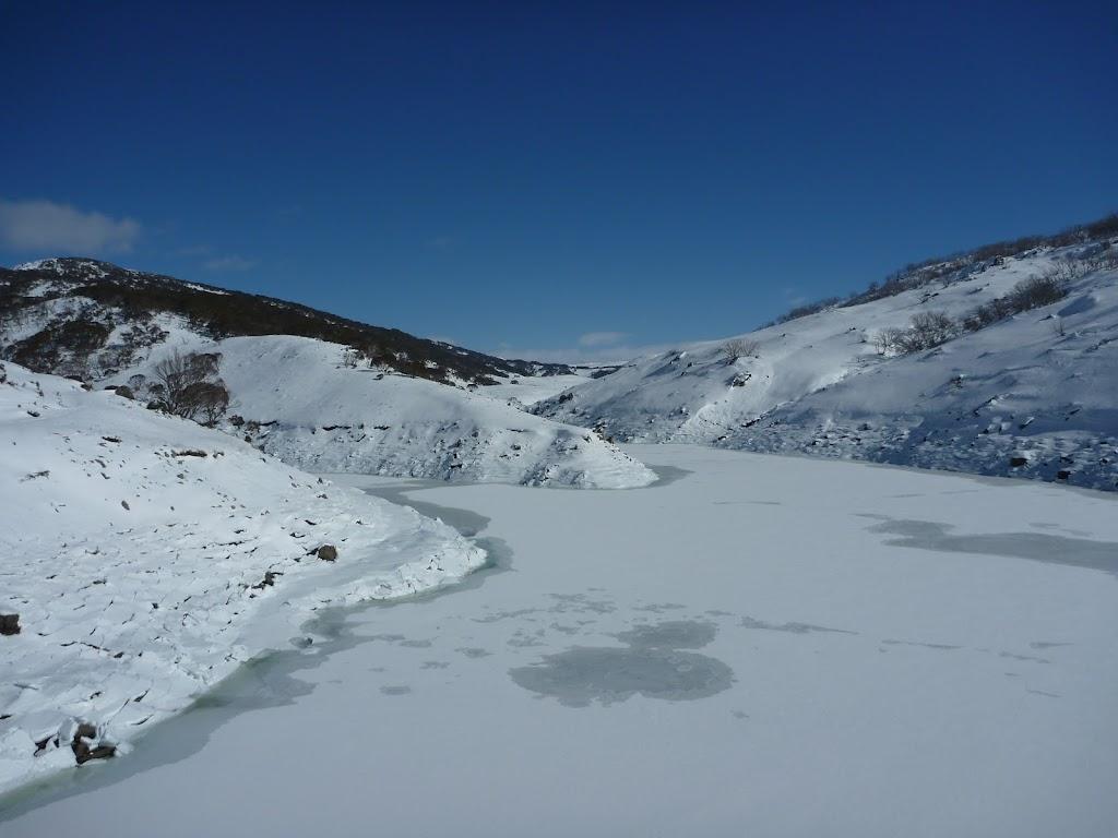 The icy Guthega Pondage