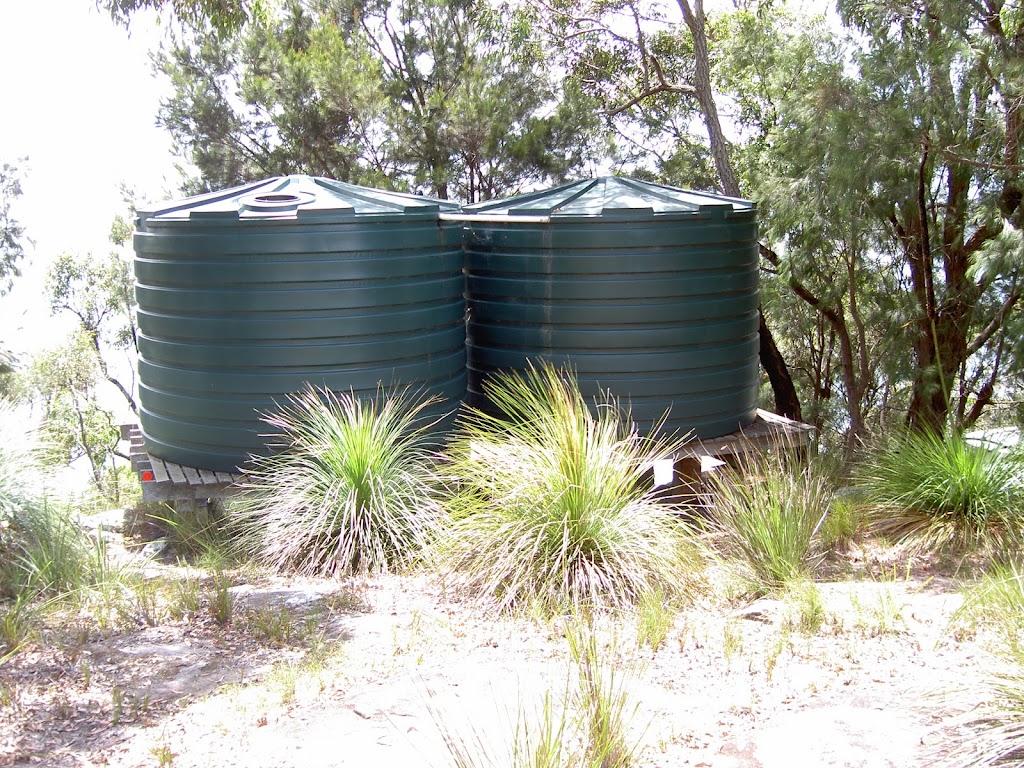Water tanks beside track