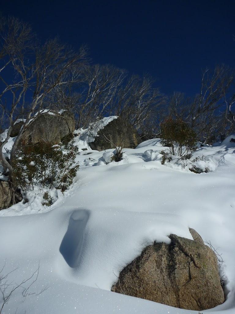 Snow on the hillside
