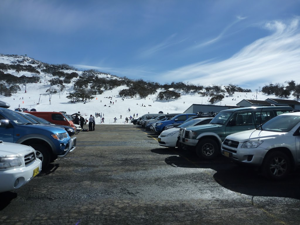 Looking over Smiggins car park to ski area