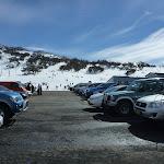 Looking over Smiggins car park to ski area