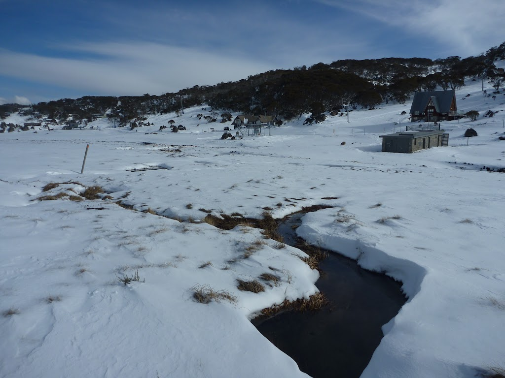 Passing a creek in Perisher Valley
