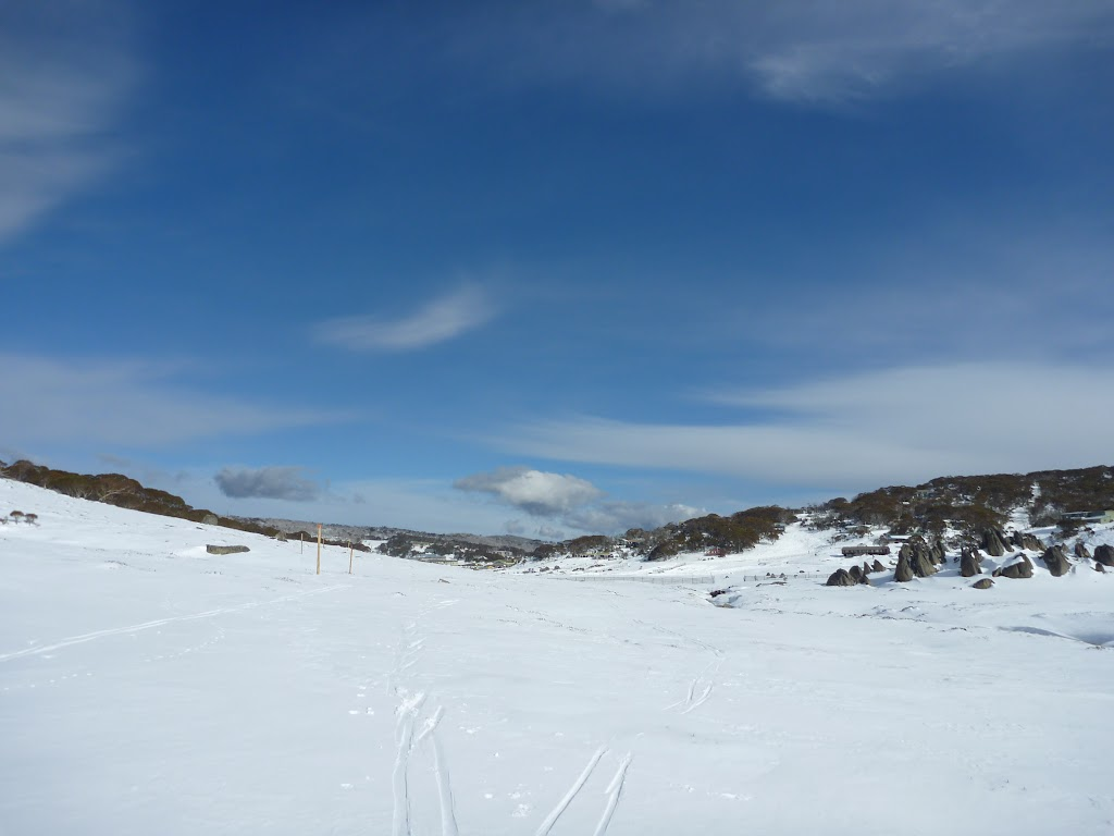 Snowhoeing through Perisher Valley