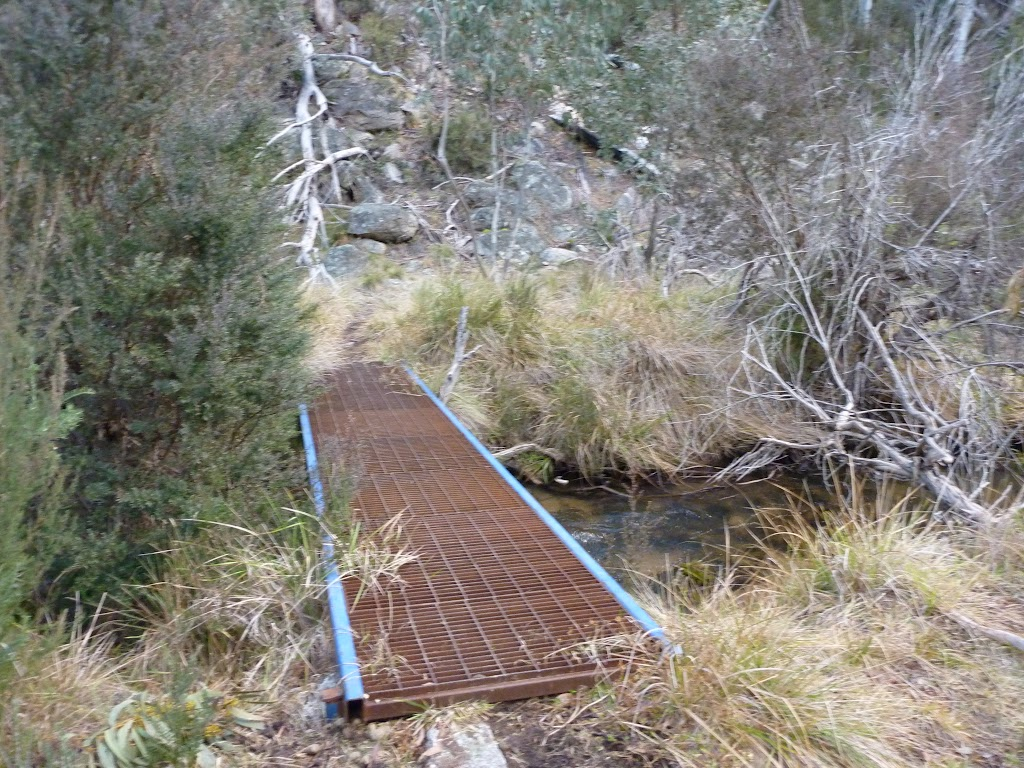 Crossing Sawpit Creek on the Pallaibo Track