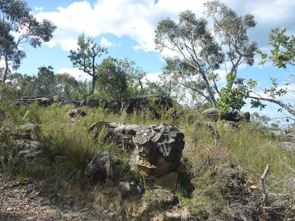 Rocks next to Elvina Track
