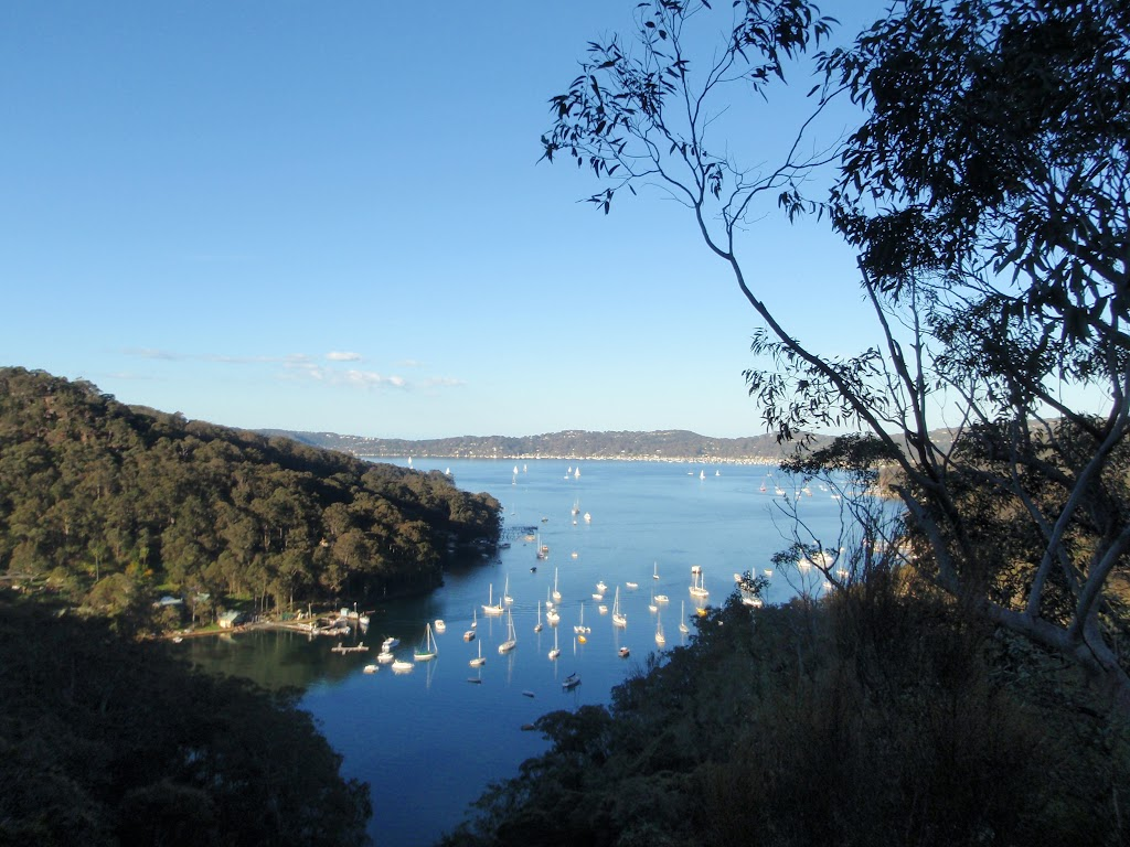 View over the Pittwater from Lovetts Pools