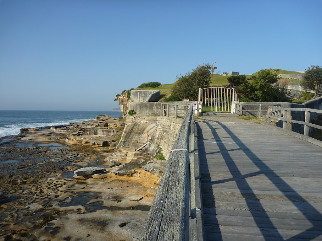 Rock platforms next to Bare Island, near La Perouse
