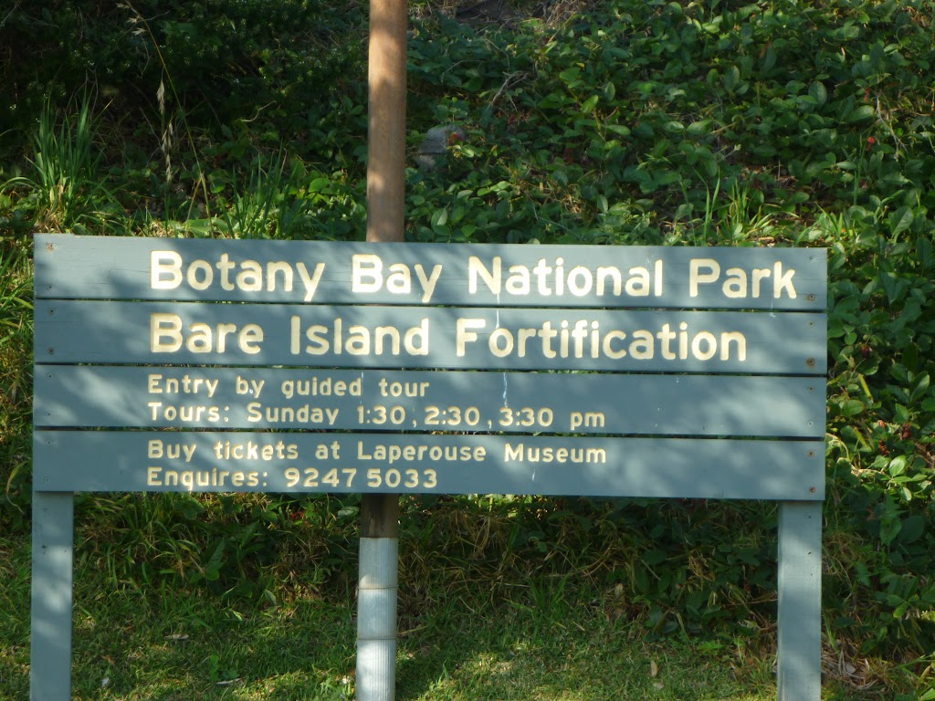 Sign on Bare Island (308210)
