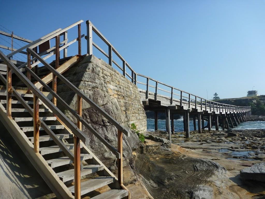 Bridge and steps on Bare Island near La Perouse (308228)