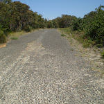 The gravel rd at the end of Beachcomber Rd (30865)