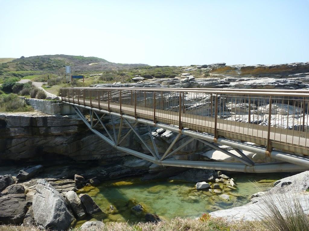 Metal bridge to Cape Banks in Botany Bay National Park
