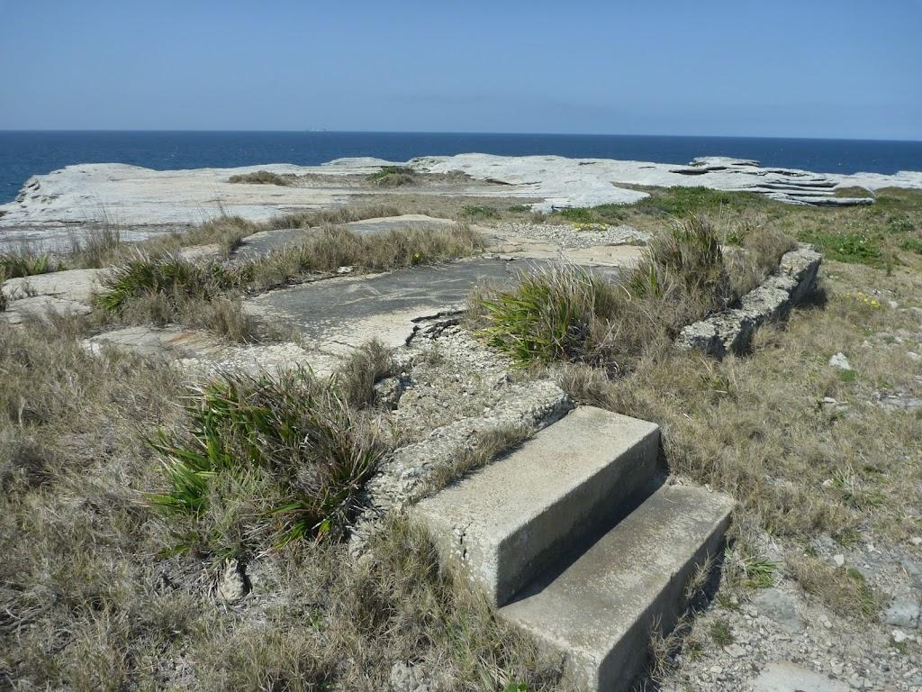 Concrete steps on Cape Banks in Botany Bay National Park