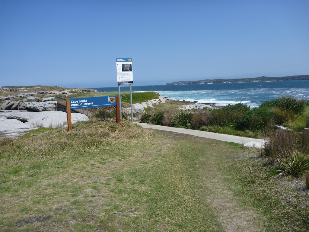 Sign and bridge at Cape Banks (310211)