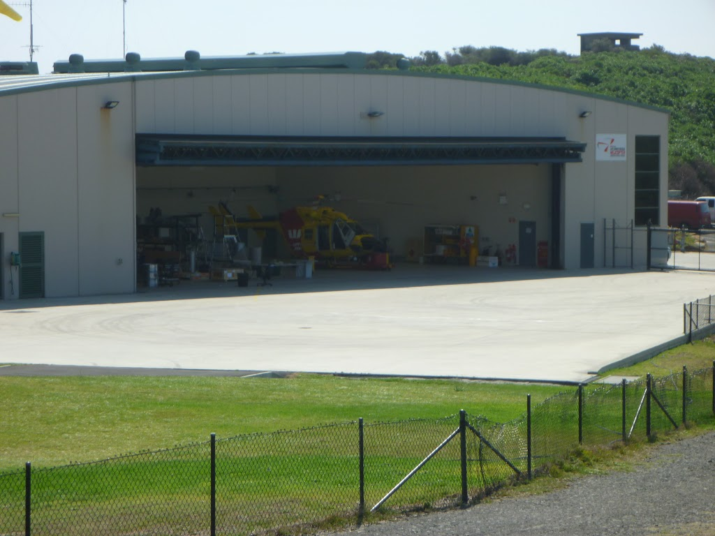 Westpac Helicopter shed, near Cape Banks