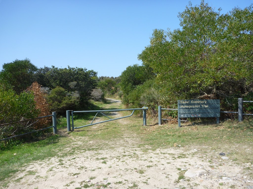 Locked gate to coastal cemetary near Botany Bay National Park (310466)