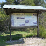 Sign near Coastal Cemetery near Botany Bay National Park (310517)