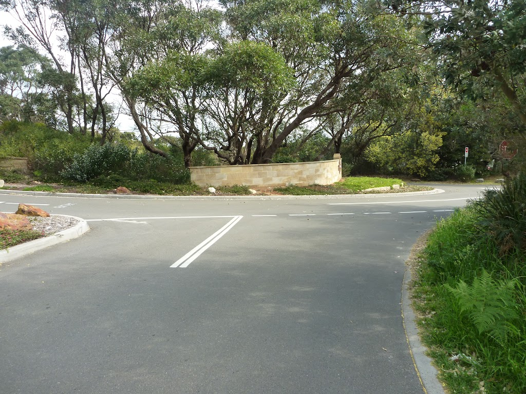 Intersection of Pistol Club Rd and Gold Club Rd, near Botany Bay National Park