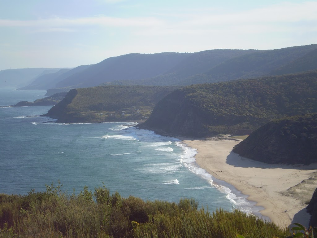 Looking at Garie Beach and the coast from the north