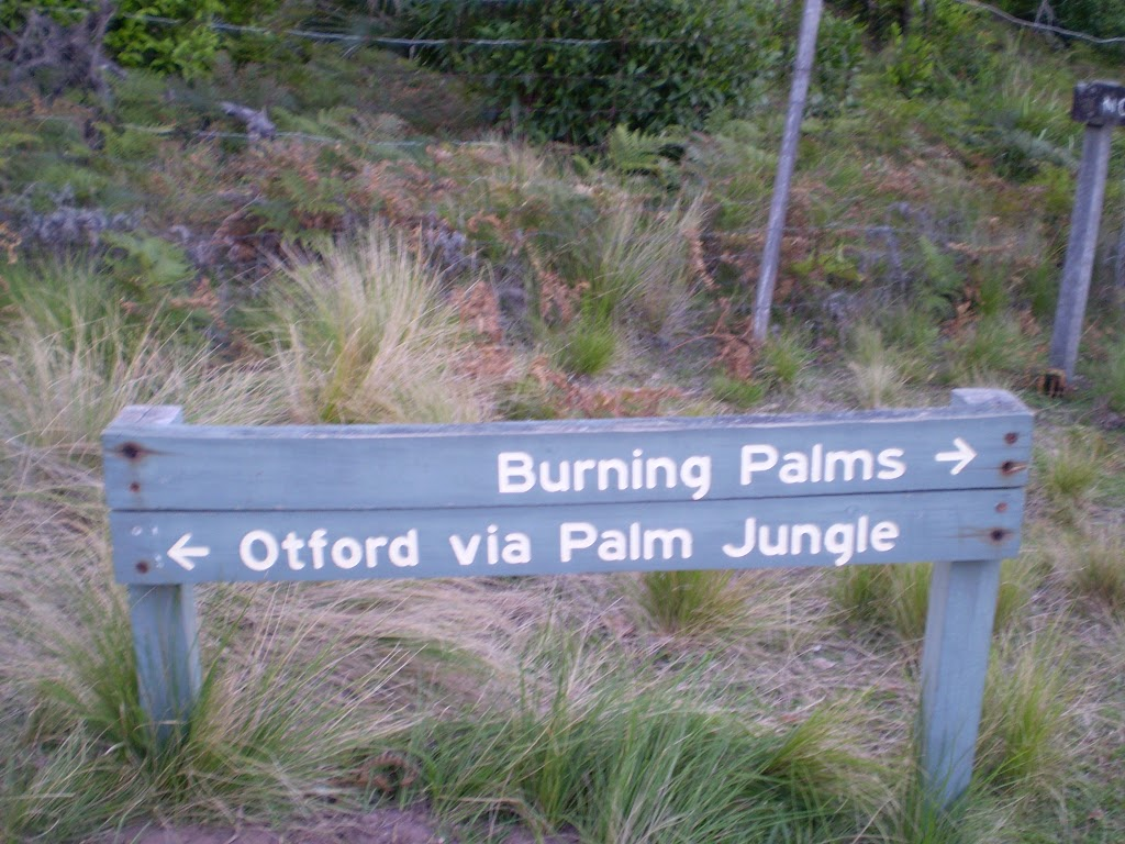 The sign at the southern end of Burning Palms Beach (31534)